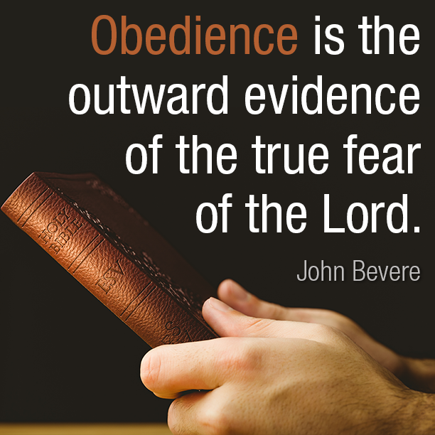 Obedience is the outward evidence
