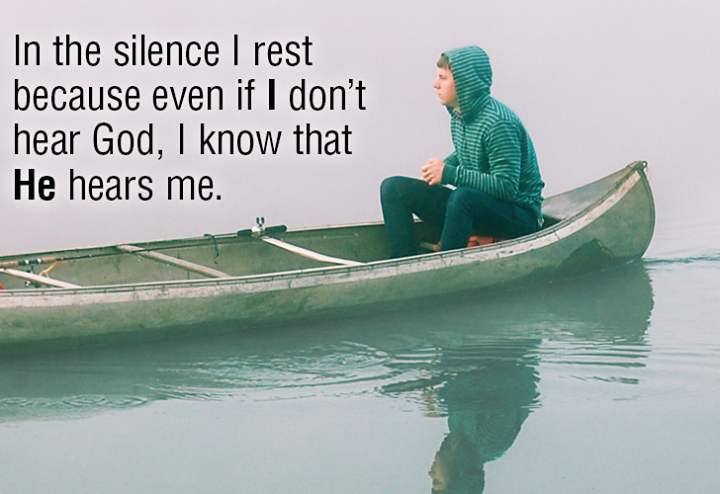 Sometimes the answer is IN the silence.